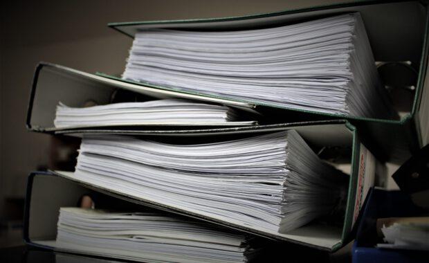 Mappen met documenten